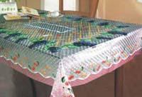 PVC tablecloth without warp